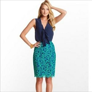 Lilly Pulitzer lace pencil skirt